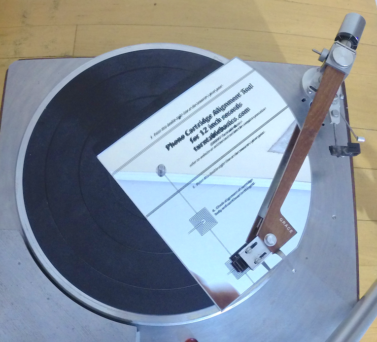 Phono Cartridge Alignment Gauge