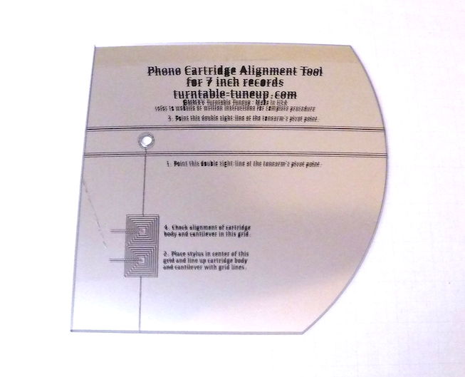 Cartridge Alignment Tool for 7 Inch Records